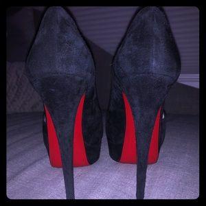 Christian Louboutin Black Suede Red Bottom Heels